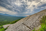 Storm clouds from Middle Sugarloaf Mountain in Bethlehem, New Hampshire USA during the summer months.