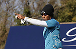JEJU, SOUTH KOREA - APRIL 23:  Thongchai Jaidee of Thailand points on the 5th hole during the Round Two of the Ballantine's Championship at Pinx Golf Club on April 23, 2010 in Jeju island, South Korea. Photo by Victor Fraile / The Power of Sport Images