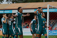 Sutton Team celebrate their goal during Crawley Town vs Sutton United, Sky Bet EFL League 2 Football at The People's Pension Stadium on 16th October 2021