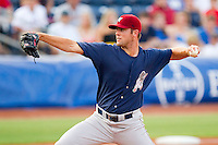 Starting pitcher Joe Savery #40 of the Lehigh Valley IronPigs in action against the Durham Bulls at Durham Bulls Athletic Park June 26, 2010, in Durham, North Carolina.  Photo by Brian Westerholt / Four Seam Images