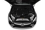 Car Stock 2020 Mercedes Benz C-Class C300- 2 Door Convertible Engine  high angle detail view
