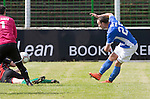 Glentoran v St Johnstone…. 09.07.16  The Oval, Belfast  Pre-Season Friendly<br />Chris Kane scores the second goal<br />Picture by Graeme Hart.<br />Copyright Perthshire Picture Agency<br />Tel: 01738 623350  Mobile: 07990 594431