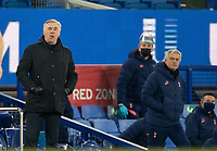 10th February 2021, Goodison Park, Liverpool, England;  Evertons manager Carlo Ancelotti and Tottenham Hotspurs manager Jose Mourinho are seen during the FA Cup 5th round match between Everton FC and Tottenham Hotspur FC at Goodison Park