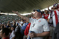 United States Men's National team fans questions a play on the field at Azteca stadium. The United States Men's National Team played Mexico in a CONCACAF World Cup Qualifier match at Azteca Stadium in, Mexico City, Mexico on Wednesday, August 12, 2009.