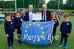 MEP Sean Kelly presents the Euorpean Citizenship Award to principal Liam Fells of Nagle Rice Primary school in Milltown on Friday. L to r: Oran and Mary O'Sullivan, Sean Kelly MEP, Liam fells (Principal), Elise Clifford and Joshua O'Connor.