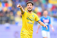 Lorenzo Ariaudo of Frosinone reacts during the Serie A 2018/2019 football match between Frosinone and SSC Napoli at stadio Benito Stirpe, Frosinone, April 28, 2019 <br /> Photo Andrea Staccioli / Insidefoto