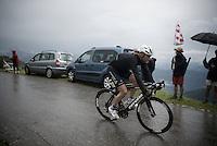 Steve Cummings (GBR/DimensionData) into the treacherous descent off the Col de Joux Plane (HC/1691m/11.6km/8.5%) towards the finish in Morzine<br /> <br /> Stage 20: Megève › Morzine (146.5km)<br /> 103rd Tour de France 2016