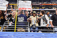 January 01, 2014:<br /> <br /> UCF Knights fans celebrate during at University of Phoenix Stadium in Scottsdale, AZ. UCF defeat Baylor 52-42 to claim it's first ever BCS Bowl trophy.
