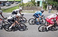 the breakaway group including eventual stage winner Victor Campenaerts (BEL/Qhubeka ASSOS)<br /> <br /> 104th Giro d'Italia 2021 (2.UWT)<br /> Stage 15 from Grado to Gorizia (147km)<br /> <br /> ©kramon