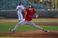 Palm Beach Cardinals pitcher Levi Prater (32) during a game against the Jupiter Hammerheads on May 11, 2021 at Roger Dean Stadium in Jupiter, Florida.  (Mike Janes/Four Seam Images)
