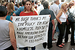 Economic Turmoil in Argentina<br /> A lunchtime demonstration in Buenos Aires. President George W Bush and the I.M.F. are generally blamed along with the government for the economic crises in Argentina. 2002, 2000s