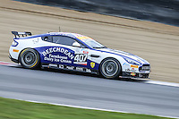 Beechdean AMR British GT Championship car driven by Jordan Albert and Jack Bartholomew during the British GT Championship Round 1 practice and qualifying at Brands Hatch, Longfield, England on 16 April 2016. Photo by David Horn.