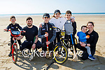 The Power family enjoying a stroll on Banna beach on Saturday, l to r: Dean, Stephen, Sean, Nicole, Caden, Finn and Sinead Power.