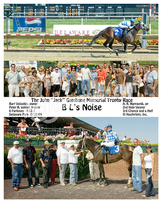 B L's Noise winning at Delaware Park on 7/12/09