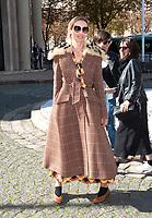 October 3 2017, PARIS FRANCE the Miu Miu<br /> Show at the Paris Fashion Week Spring Summer 2017/2018. Alexandra Golovanoff<br /> arrives at the show.