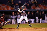 Wisconsin-Milwaukee Panthers right fielder Dylan Detert (23) at bat during a game against the Ball State Cardinals on February 26, 2016 at Chain of Lakes Stadium in Winter Haven, Florida.  Ball State defeated Wisconsin-Milwaukee 11-5.  (Mike Janes/Four Seam Images)