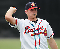 July 15, 2009: Outfielder Robbie Hefflinger (33) of the Danville Braves, rookie Appalachian League affiliate of the Atlanta Braves, in a game at Dan Daniel Memorial Park in Danville, Va. Photo by:  Tom Priddy/Four Seam Images