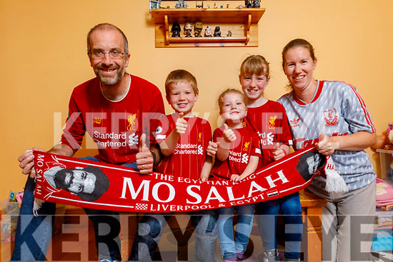 Ross, John, Jennifer, Rachael and Edel Ahern from Tralee celebrating as Liverpool were crowned Premier league champions after a wait of 30 years.