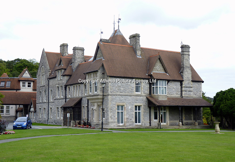 """Pictured: The Council offices in Bodlondeb in Conwy, north Wales, UK. STOCK PICTURE<br /> Re: Bungling council gardeners have cut down a rare orchid that had been blossoming in Conwy for the last four years.<br /> Retired geologist Jeff Walters had been photographing the heath spotted orchid for years and was """"devastated"""" when it disappeared this week.<br /> Conwy Council have defended themselves, saying there was """"no evidence"""" of the plant in the flower bed at the council's headquarters in Bodlondeb.<br /> But Mr Walters, who lives in Conwy, said he found the discarded leaves of the orchid in a heap of weeds nearby."""