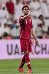 Akram Hassan Afif of Qatar gestures during the AFC Asian Cup UAE 2019 Semi Finals match between Qatar (QAT) and United Arab Emirates (UAE) at Mohammed Bin Zaied Stadium  on 29 January 2019 in Abu Dhabi, United Arab Emirates. Photo by Marcio Rodrigo Machado / Power Sport Images