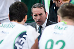 Unicaja's coach Joan Plaza during Quarter Finals match of 2017 King's Cup at Fernando Buesa Arena in Vitoria, Spain. February 17, 2017. (ALTERPHOTOS/BorjaB.Hojas)