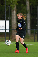 Martyna Rakowicz (38) of Woluwe with the ball during a female soccer game between Sporting Charleroi and White Star Woluwe on the 7 th matchday in play off 2 of the 2020 - 2021 season of Belgian Scooore Womens Super League , friday 14 th of May 2021  in Marcinelle , Belgium . PHOTO SPORTPIX.BE | SPP | Sevil Oktem