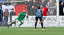 Ayr Utd's Jon Paul McGovern scores their first goal from the spot.