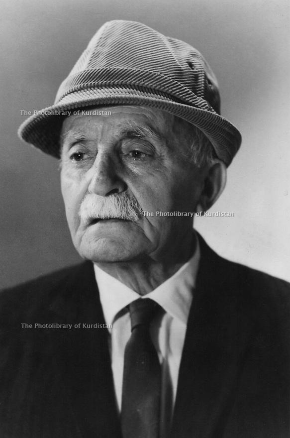 Irak 1970.Souleimania:Portrait de Ismael Shawess.Iraq 1970.Suleimania: Portrait of Ismael Shawess