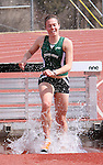 SPEARFISH, SD -- April 04, 2008: Jamie Adams of Black Hills State runs out of the water pit during the women's 3,000-meter steeplechase  during the Black Hills State University Frostbite Invitational college track and field meet Friday, April 4, 2008 at Lyle Hare Stadium in Spearfish. (Photo by Jeff Easton/Inertia)