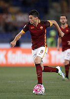 Calcio, Serie A: Roma vs Bologna. Roma, stadio Olimpico, 11 aprile 2016.<br /> Roma's Diego Perotti in action during the Italian Serie A football match between Roma and Bologna at Rome's Olympic stadium, 11 April 2016.<br /> UPDATE IMAGES PRESS/Isabella Bonotto