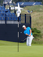 160719 | The 148th Open - Tuesday Practice<br /> <br /> Rory Mcilroy chips onto the 15th green during practice for the 148th Open Championship at Royal Portrush Golf Club, County Antrim, Northern Ireland. Photo by John Dickson - DICKSONDIGITAL
