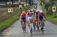 Mathieu Van der Poel (NED/Alpecin-Fenix)<br /> <br /> 104th Ronde van Vlaanderen 2020 (1.UWT)<br /> 1 day race from Antwerpen to Oudenaarde (BEL/243km) <br /> <br /> ©kramon