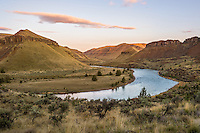 Sunrise along John Day River (upstream of 30 Mile Creek).  OR.  Early Spring.
