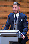 Real Madrid Sergio Ramos during visit to Madrid Council during  the celebration of the 13th UEFA Championship in Madrid, June 04, 2017. Spain.<br /> (ALTERPHOTOS/BorjaB.Hojas)