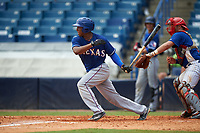 Brandon McIlwain (11) of Council Rock North High School in Newtown, Pennsylvania playing for the Texas Rangers scout team during the East Coast Pro Showcase on July 30, 2015 at George M. Steinbrenner Field in Tampa, Florida.  (Mike Janes/Four Seam Images)