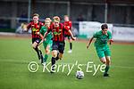 Kerry's Oisin Breen races with Luke Murphy of Carlow Kilkenny for possession in the U17 League of Ireland