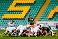21st March 2021; Franklin's Gardens, Northampton, East Midlands, England; Premiership Rugby Union, Northampton Saints versus Bristol Bears; Tom James of Northampton Saints watches at a Bristol scrum