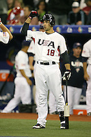 March 7, 2009:  Left fielder Ryan Braun (18) of Team USA during the first round of the World Baseball Classic at the Rogers Centre in Toronto, Ontario, Canada.  Team USA defeated Canada 6-5 in both teams opening game of the tournament.  Photo by:  Mike Janes/Four Seam Images