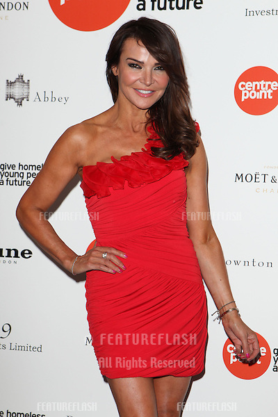 Lizzie Cundy arriving for the Downton Abbey Ball, The Savoy, London.  30/04/2015 Picture by: Alexandra Glen / Featureflash
