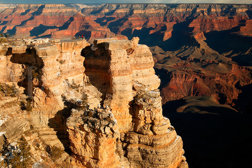 Visitor (MR) at Mather Point, Grand Canyon National Park, Arizona. Model Released.