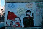 Italie. Italia. Sardaigne. Sardinia.Peintures murales (murales) politiques  dans les rues du village de d'Orgosolo