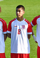 Dipak Khatri (8) of Luxemburg pictured during a soccer game between the national teams Under17 Youth teams of  Norway and Luxemburg on day 2 in the Qualifying round in group 3 on saturday 9 th of October 2020  in Tubize , Belgium . PHOTO SPORTPIX   DAVID CATRY