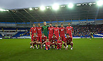 The Welsh team photo for their International Friendly match withScotland at the new Cardiff City Stadium, their first game there.