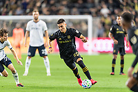 LOS ANGELES, CA - MARCH 08: Eduard Atuesta #20 of LAFC against Philadelphia Union during a game between Philadelphia Union and Los Angeles FC at Banc of California Stadium on March 08, 2020 in Los Angeles, California.