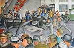 1934 WPA mural in Coit Tower, San Francisco, CA featuring newsgathering. (Bob Gathany/bgathany@AL.com)Bob & Lou's trip to California Nov. 2015. (Bob Gathany Photographer)