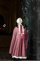 Papa Francesco apre la Porta Santa della Basilica di San Giovanni in Laterano, 13 dicembre 2015.<br /> Pope Francis opens the Holy Door of St. John Lateran's Basilica in Rome, 13 December 2015.<br /> UPDATE IMAGES PRESS/Giagnori Bonotto<br /> <br /> STRICTLY ONLY FOR EDITORIAL USE