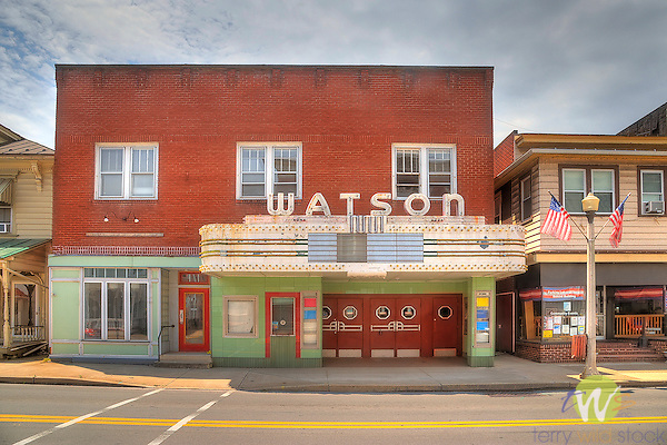 Old Movie Theatre. Watson, Watsontown, PA.