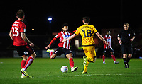 Lincoln City's Liam Bridcutt scores his side's equalising goal to make the score 1-1<br /> <br /> Photographer Chris Vaughan/CameraSport<br /> <br /> The EFL Sky Bet League One - Lincoln City v Milton Keynes Dons - Tuesday 11th February 2020 - LNER Stadium - Lincoln<br /> <br /> World Copyright © 2020 CameraSport. All rights reserved. 43 Linden Ave. Countesthorpe. Leicester. England. LE8 5PG - Tel: +44 (0) 116 277 4147 - admin@camerasport.com - www.camerasport.com