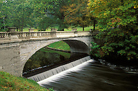 White Bridge over Crum Elbow Creek, Vanderbilt Mansion National Historic Site, Hyde Park, Dutchess County, New Yor