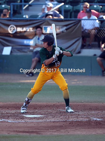 Cameron Barstad plays in the 2017 Area Code Games on August 6-10, 2017 at Blair Field in Long Beach, California (Bill Mitchell)
